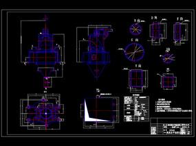 高效水平涡流选粉机CAD机械图纸1