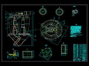 高效转子式选粉机CAD机械图纸