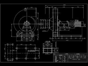 高压离心风机CAD机械图纸