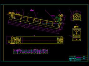 高堰式单螺旋分级机机械CAD图纸