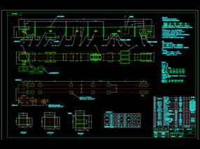 刮板输送机总图CAD机械图纸