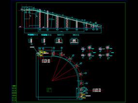 管带输送机CAD机械图纸