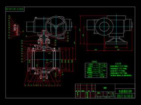 固定球阀CAD机械图纸