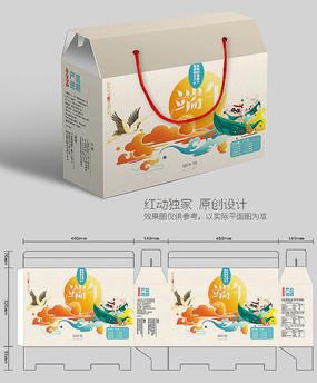 手绘古风端午节包装盒设计