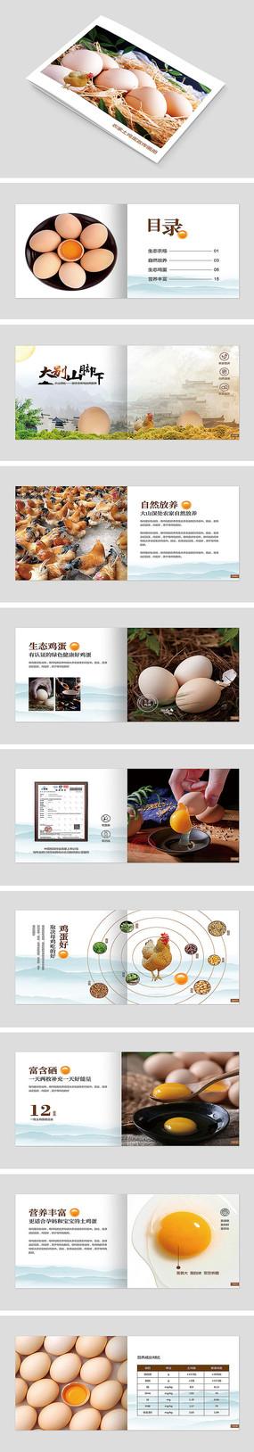 土鸡蛋促销宣传画册
