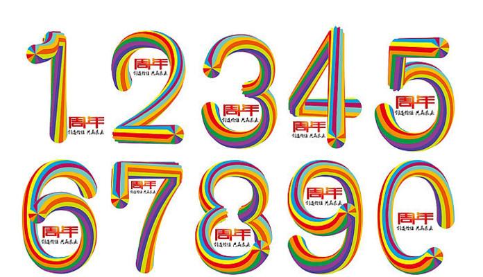 周年庆典数字字体