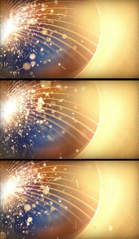 超炫金色粒子绽放视频背景