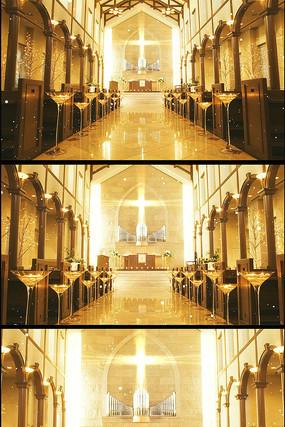 金色教堂婚礼婚庆视频背景