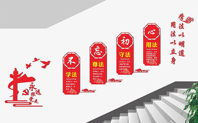 政法楼梯文化墙