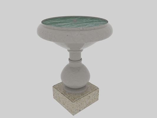 景观水池3Dmax模型