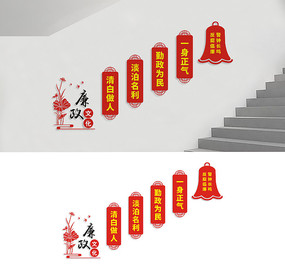 楼道廉政文化墙宣传展板