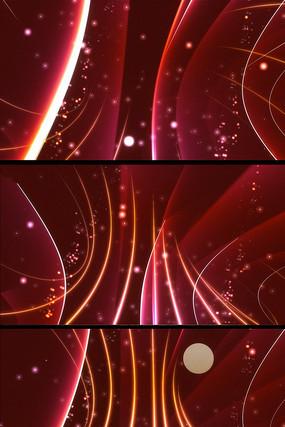 红色动态光点线条背景视频