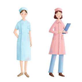 卡通护士节护士人物原创素材