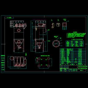 离线脉冲袋式除尘器机械CAD图纸