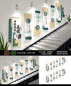 仁义礼智信校园楼梯文化墙