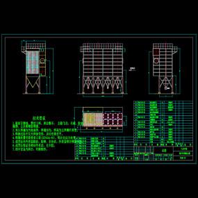 脉冲布袋除尘器CAD机械图纸