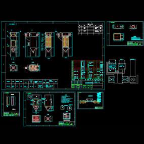 脉冲除尘器生产用图机械CA图纸