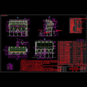 脉冲除尘器总图CAD机械图纸