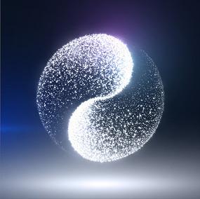 矢量阴阳太极图案主题设计