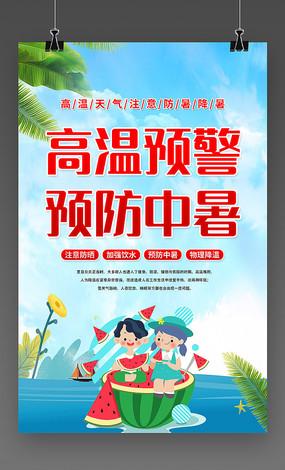 夏季预防中暑宣传海报