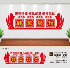 军人部队文化墙展板标语