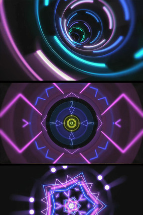 霓虹荧光灯动感DJ背景视频