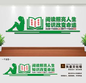 校园读书文化墙宣传标语