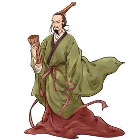 端午节中国风水墨屈原人物PNG素材