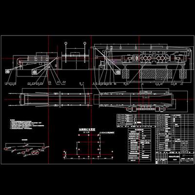 绳架皮带运输机装配图机械图纸