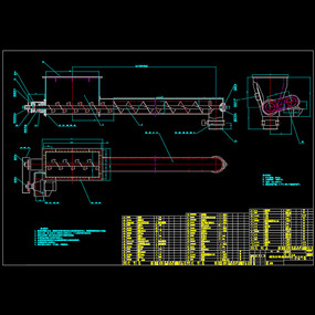 输送机总装配图CAD机械图纸