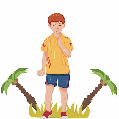 原创元素儿童节插画