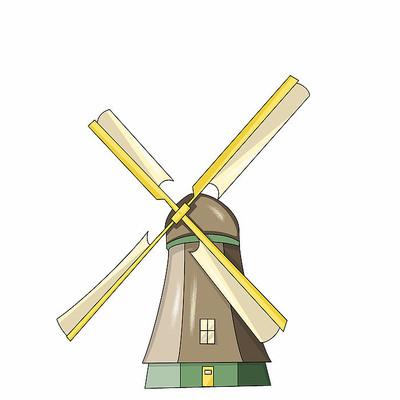 原创元素儿童节风车