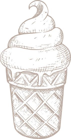 美食雪糕冰棍甜品矢量手绘插画