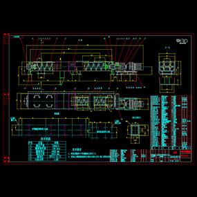 双轴螺旋混合机CAD机械详图