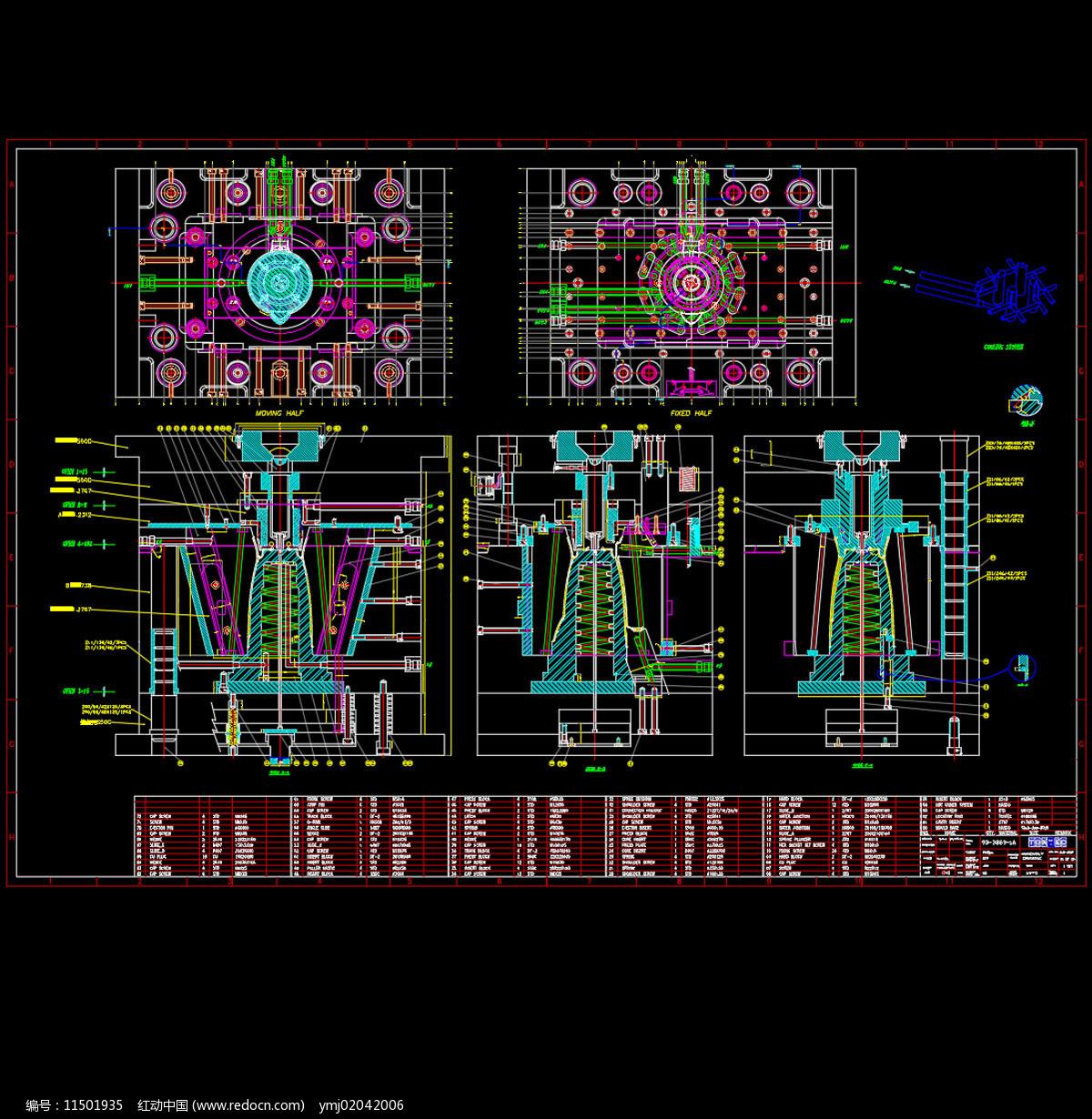 外国搅拌机CAD机械详细图片