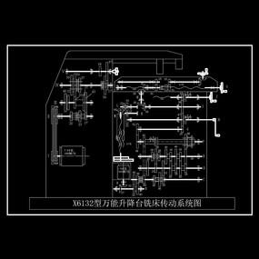 万能升降台铣床CAD机械图纸