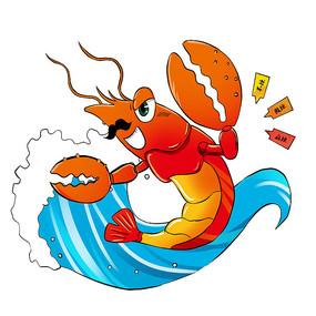 夏日小龙虾元素