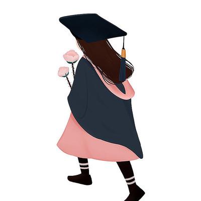 原创学士服毕业季元素