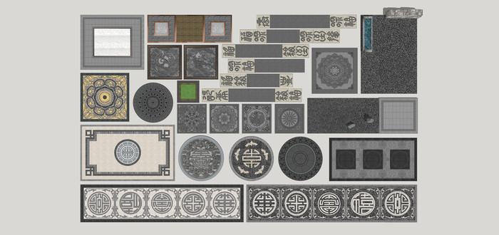新中式铺装图案