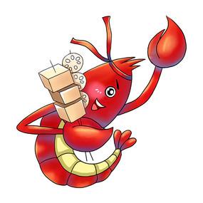 夏天龙虾吃烧烤图
