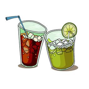 夏至立夏卡通饮料元素