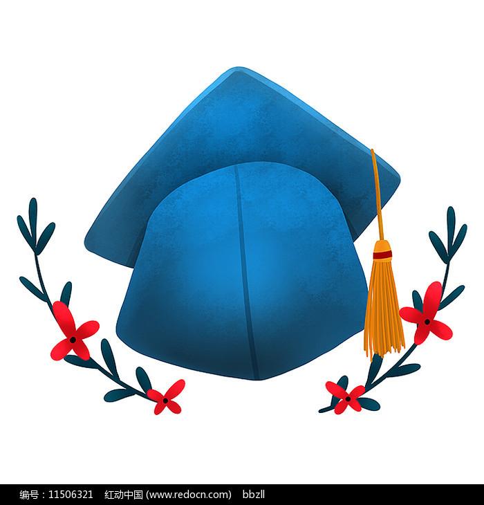 原创学士帽毕业季元素图片