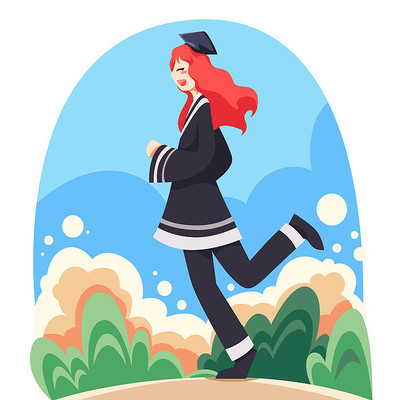 毕业季插画手绘