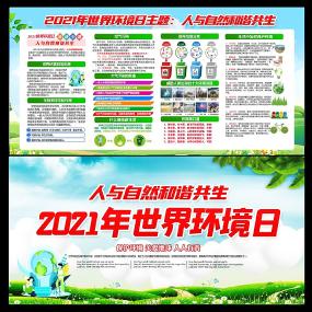 2021年世界环境日主题展板