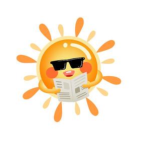 卡通可爱夏天太阳