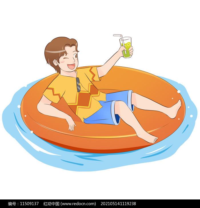 夏日泳池元素图片