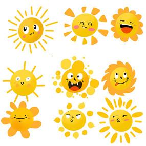 太阳可爱卡通素材