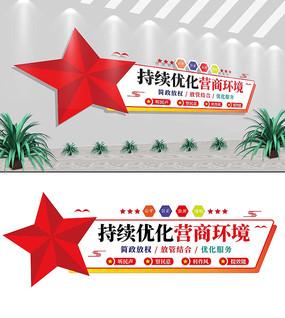 持续优化营商环境工商标语文化墙