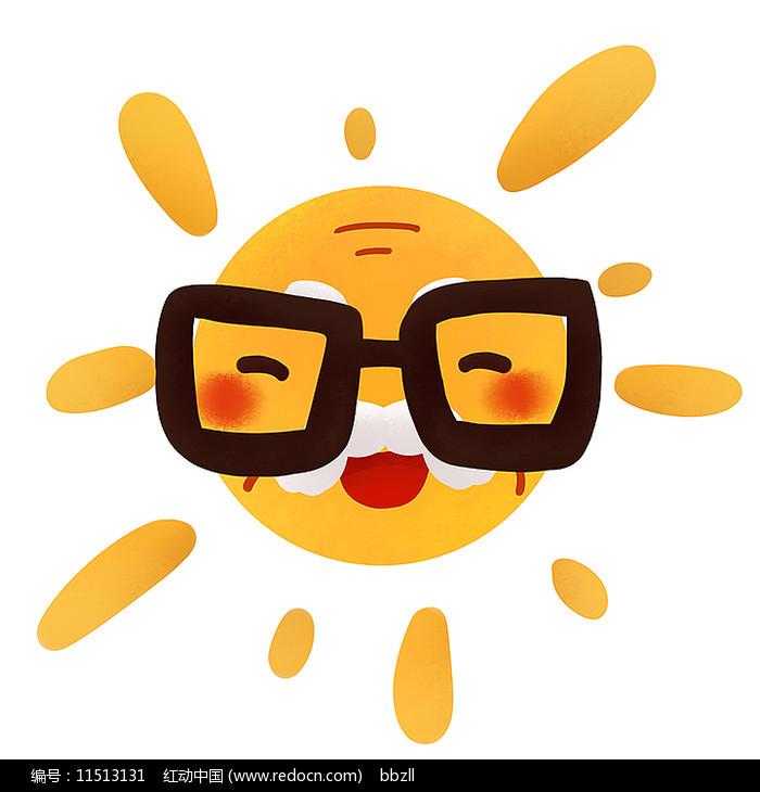 原创可爱卡通太阳公公图片