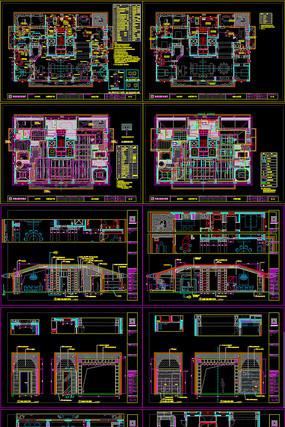 600㎡样板间住宅CAD全套施工图设计